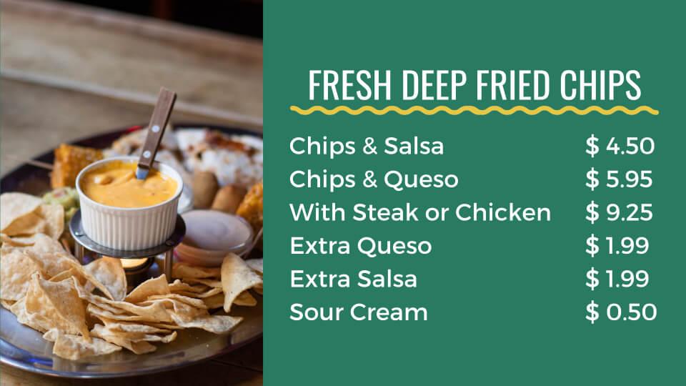 pockets menu chips